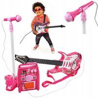 Gitara Elektryczna dla Dzieci Mikrofon Wzmacniacz