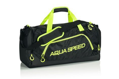 Torba sportowa AQUA-SPEED roz. M 48x25x29 cm Kolor - Akcesoria - Torba sportowa - 01 - czarny / zielony