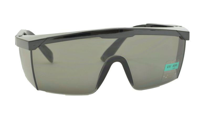 Klasyczne Okulary Ochronne CIEMNE Z ATESTEM UV 400 na Arena.pl