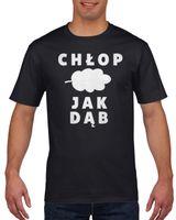 Koszulka męska CHLOP JAK DAB c L