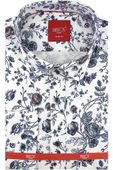 Koszula Męska Biblos biała w kwiatki SLIM FIT na długi rękaw A078 L 41 176/182