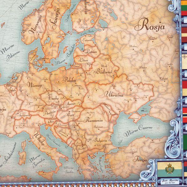 Mapa Europy Plotno Dedykacja Na Urodziny 70x100cm Arena Pl