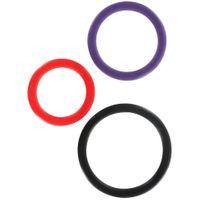 Komplet Trzech Ringów Erekcyjnych - Triple C-Ring Set