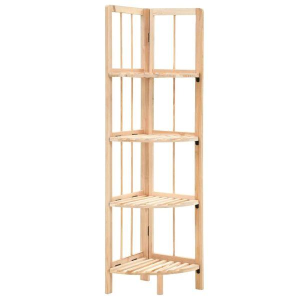 Regał Narożny Z Drewna Cedrowego, 27 X 27 X 110 Cm zdjęcie 1