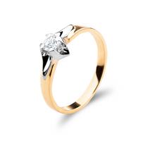 Złoty pierścionek z cyrkoniami ROZMIAR - 12