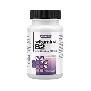 Witamina B2 Ryboflawina B-2 50 mg 60 kapsułek PharmoVit