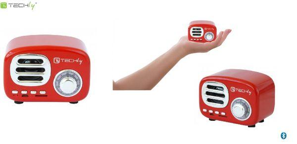 Głośnik Bluetooth Techly Retro czerwony