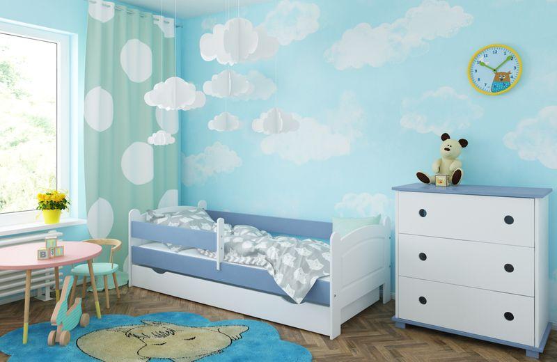 Łóżko AMELIA 180x80 szuflada + barierka zabezpieczająca + MATERAC zdjęcie 7