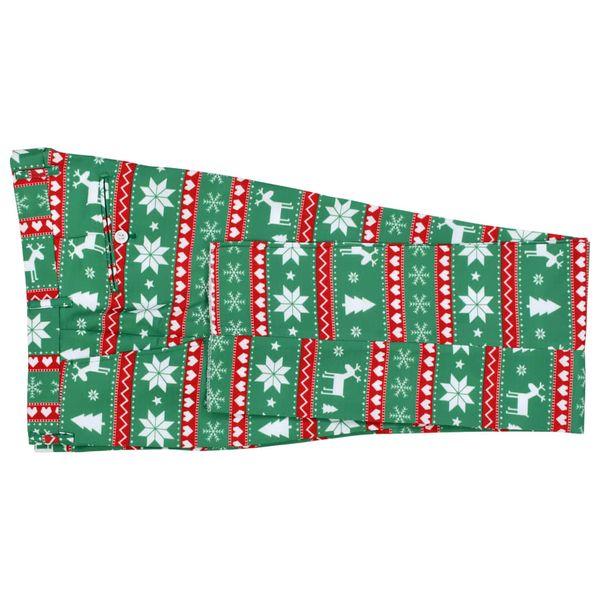 9dce0cb05d194 Świąteczny garnitur męski z krawatem, 2-częściowy, 52, zielony zdjęcie 7