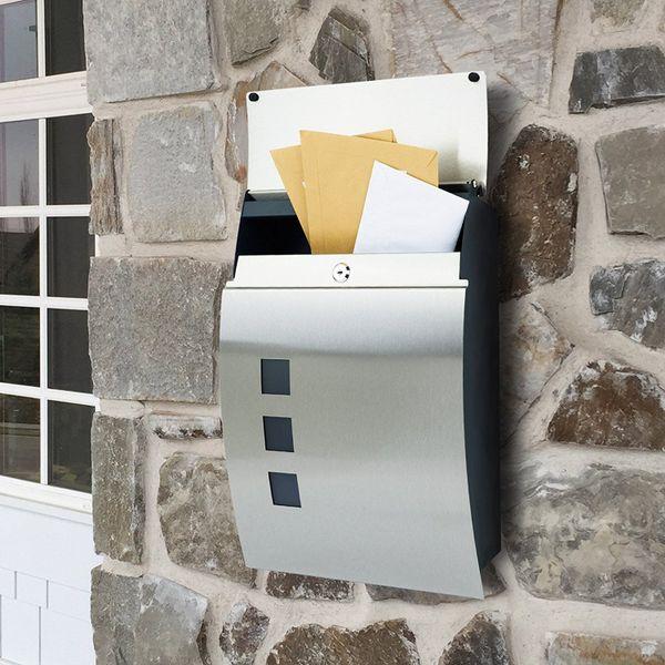 Zamykana skrzynka pocztowa na listy gazety ze stali szlachetnej MB05 zdjęcie 6