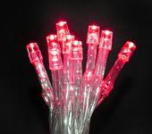 Lampki 10 LED na baterie - czerwony zdjęcie 5