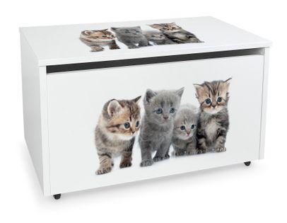 Mobilna skrzynia na zabawki duża Koty
