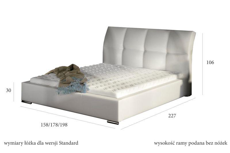 Łóżko Tapicerowane MILO 160x200+ Stelaż zdjęcie 2