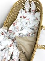 Komplet z tkaniny 100% bawełnianej premium -  połączonej zvelvetem