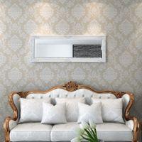 Lustro ścienne w stylu barokowym 140x50cm białe VidaXL