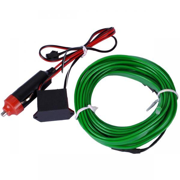 Światłowód EL WIRE Ambient Taśma LED 5m zielony zdjęcie 7