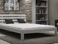 Łóżko Białe 140x200 Drewniane Wysokie Producent F4 Magnat