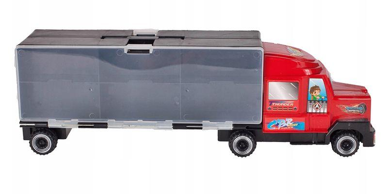 Ciężarówka z walizką z metalowymi autami TIR Y187 zdjęcie 4