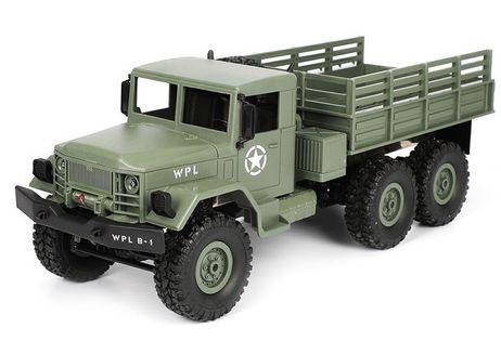 Ciężarówka wojskowa WPL B-16 (1:16, 6x6, 2.4G, LiPo) - Zielony