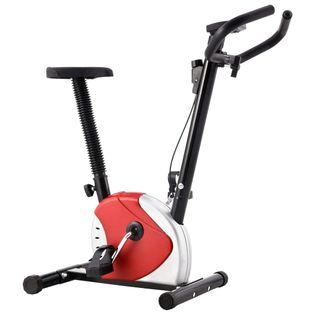 Rower do ćwiczeń regulowany LCD biały VidaXL