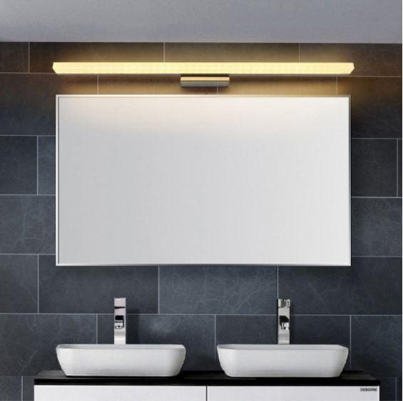 Minimalistyczna lampa nad lustro Kinkiet łazienkowy LED 50 cm 12W zdjęcie 5
