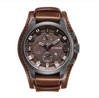 Brązowy zegarek CURREN z datownikiem