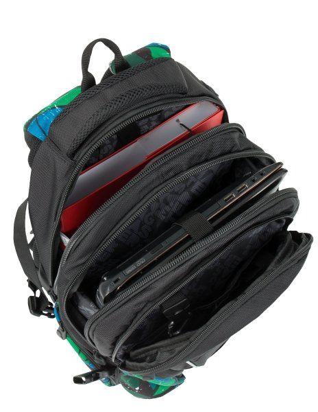 0d7c2b49b733d Plecak szkolny Bagmaster trzykomorowy czarny z kolorowymi wstawkami zdjęcie  7