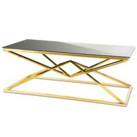 Stolik kawowy Diamanto Gold Black  stół glamour