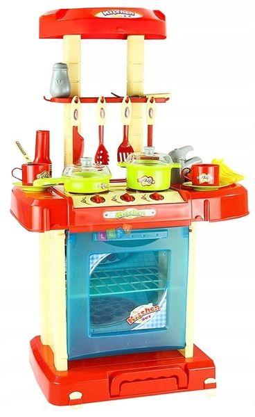 Kuchnia dla dzieci w walizce Piekarnik Zlew Akcesoria kuchenne U07 zdjęcie 6