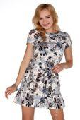 Kwiecista mini sukienka krótki rękaw M