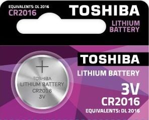 1 x Bateria litowa TOSHIBA CR 2016 3V
