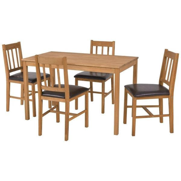 Meble Kuchenne Do Jadalni Stół 4 Krzesła Drewniane Zestaw