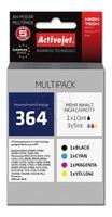 Zestaw tuszy Activejet AH-M364R (zamiennik HP 364 SD536EE; Premium; 1 x 10 ml, 3 x 5 ml; czarny, czerwony, niebieski, żółty)