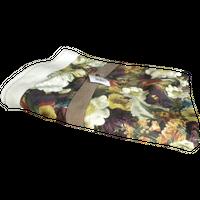 Ciepły koc 130x170cm, duże kwiaty, bordowy kolor zdjęcie 4