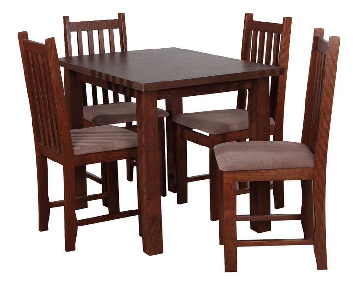 Stół 4 Krzesła Zestaw Z031 Orzech średni