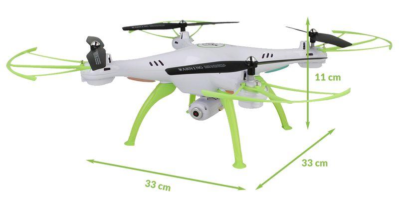 Dron Syma X5HW kamera Wi-Fi funkcja zawisu Gogle VR 3D Biały Y142GB zdjęcie 5
