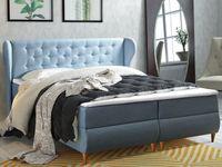 Łóżko 180 z pojemnikami i toperem Fabby - kontynentalne GLAMOUR