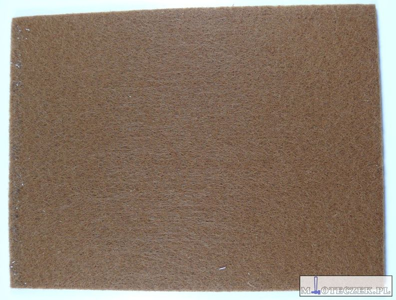 Arkusz filcu podkładki pod meble 200x150mm brąz zdjęcie 2