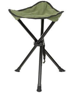 Składany stołek z trójkątnym siedziskiem oliwkowy