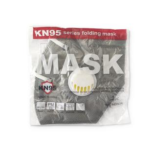 Maseczka ochronna KN95 szara 1szt z zaworkiem