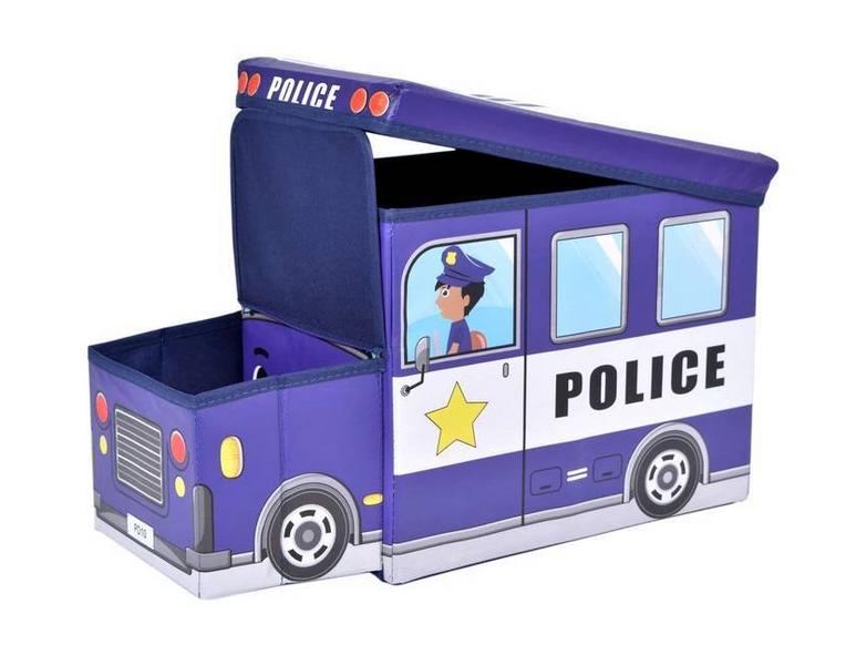 POJEMNIK POLICJA NA ZABAWKI PUFA DLA CHŁOPCA zdjęcie 3