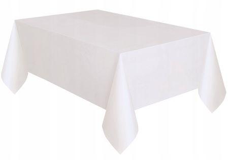 Obrus biały 137x 274cm folia urodziny ślub chrzest