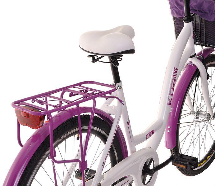 Kozbike Damski Rower Miejski 26 Damka 3 Biegi z Koszem (15) zdjęcie 3