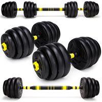HANTLE REGULOWANE Z FUNKCJĄ SZTANGI 30 kg 2 x 15kg