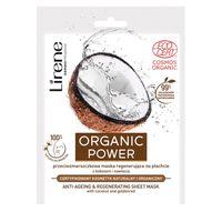 Lirene Organic Power Przeciwzmarszczkowa Maska Regenerująca Na Płachcie Z Kokosem I Nawłocią 1Szt