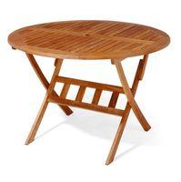 Meble z drewna stoły ogrodowe okrągłe do ogrodu Stół Bradford 110cm