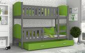 Łóżko piętrowe TAMI COLOR 190x80 szuflada + materace zdjęcie 4