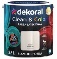 Dekoral Clean & Color 2,5L KWIAT BAWEŁNY