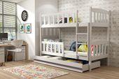 Łóżko piętrowe dla dzieci Kubuś 190x80 dziecięce + MATERAC + SZUFLADA zdjęcie 3