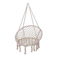 Hamak krzesło wiszące bocianie gniazdo białe 60 cm